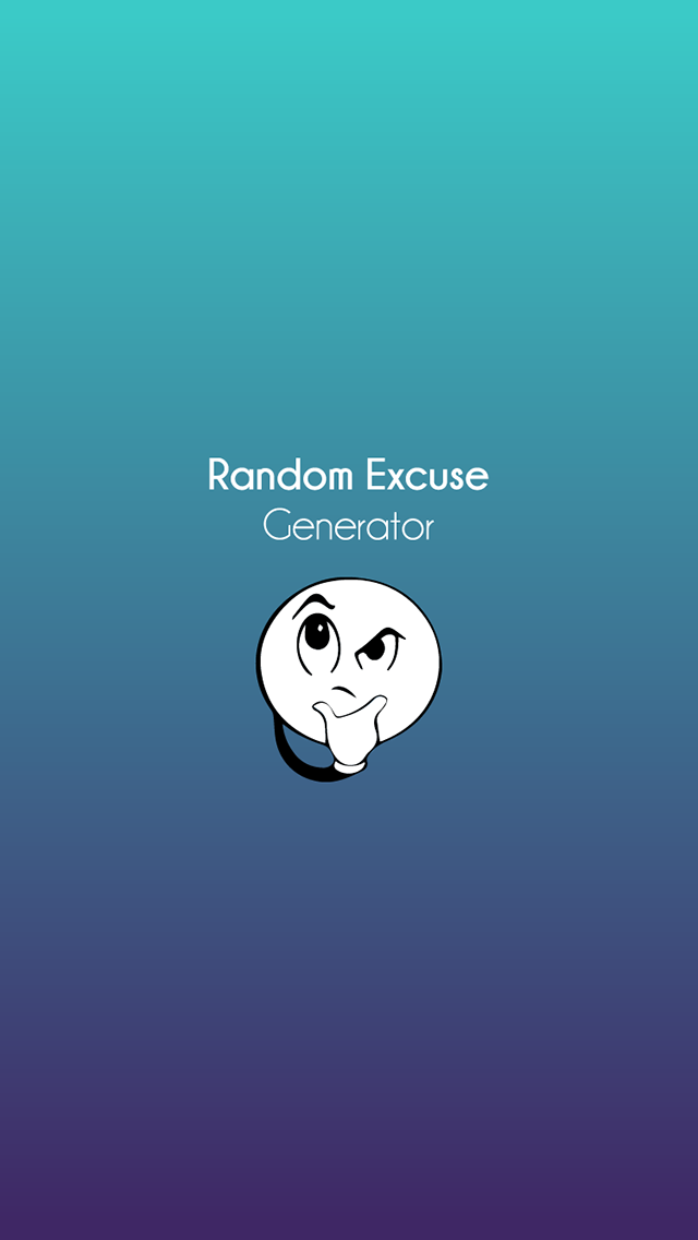Random Excuse Generator – iPhone Screenshot